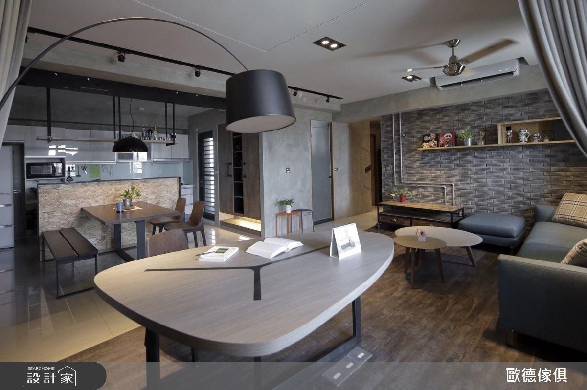 37坪新成屋(5年以下)_工業風工作區案例圖片_台灣歐德傢俱股份有限公司_歐德_12之3