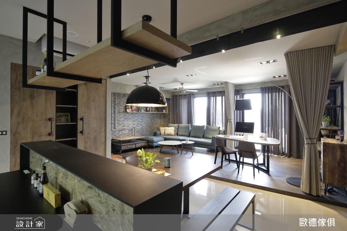 37坪新成屋(5年以下)_工業風廚房案例圖片_台灣歐德傢俱股份有限公司_歐德_12之12