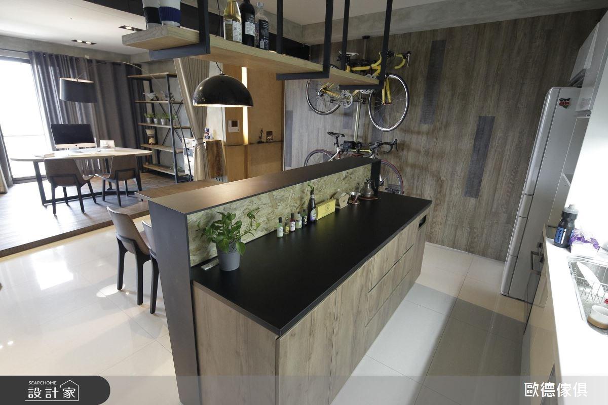 37坪新成屋(5年以下)_工業風廚房案例圖片_台灣歐德傢俱股份有限公司_歐德_12之13