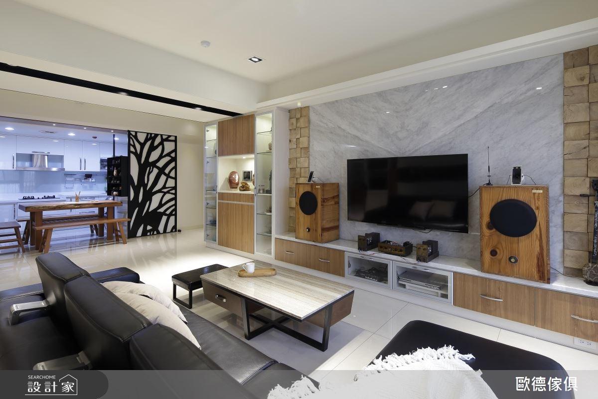 50坪新成屋(5年以下)_新中式風客廳案例圖片_台灣歐德傢俱股份有限公司_歐德_18之4