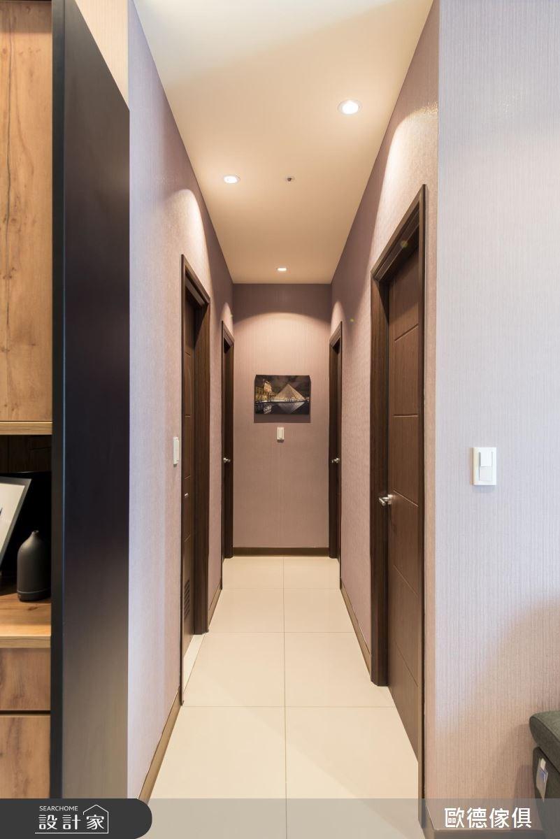 43坪新成屋(5年以下)_現代風走廊案例圖片_台灣歐德傢俱股份有限公司_歐德_43之5