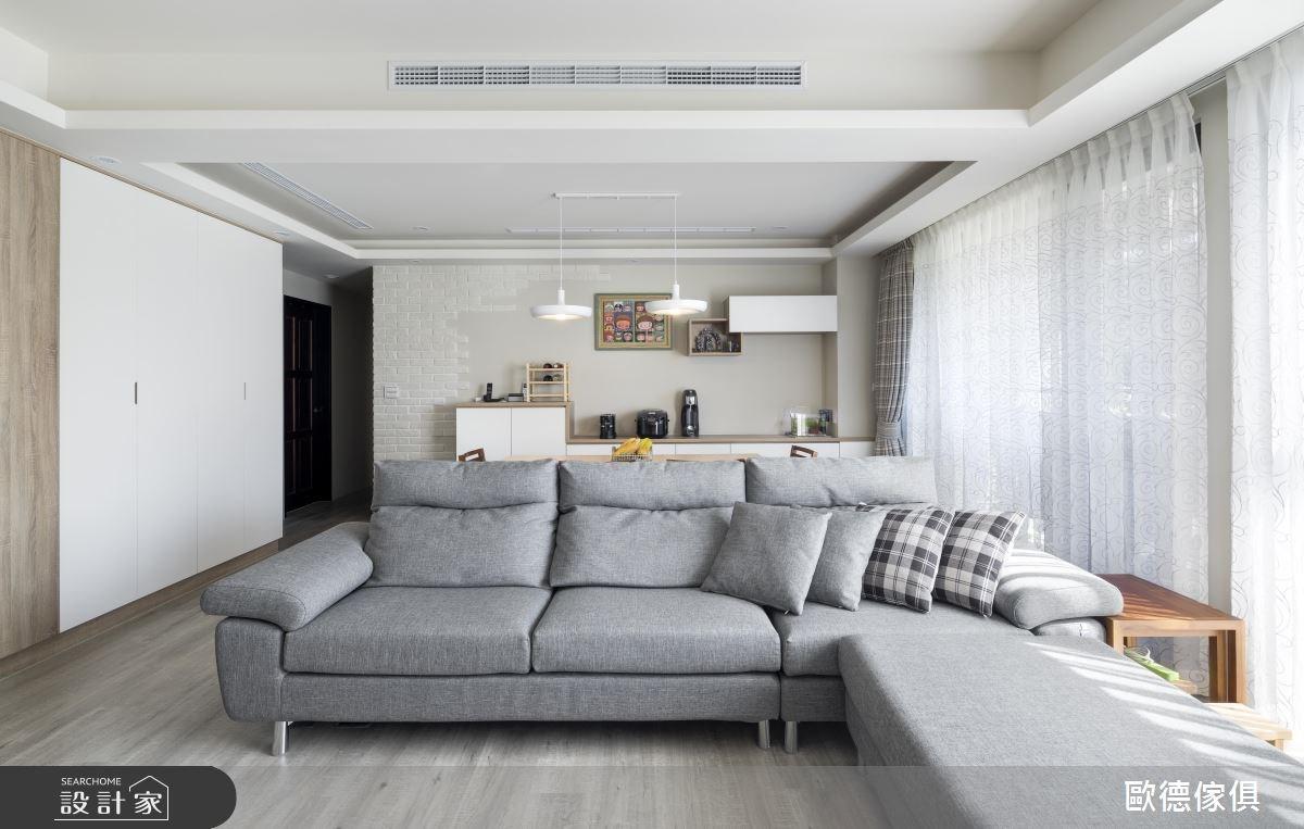 40坪新成屋(5年以下)_北歐風客廳案例圖片_台灣歐德傢俱股份有限公司_歐德_46之5