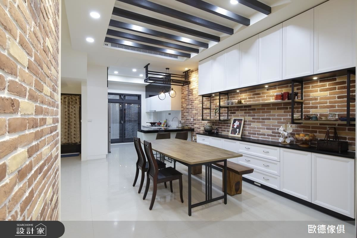 60坪新成屋(5年以下)_混搭風餐廳廚房案例圖片_台灣歐德傢俱股份有限公司_歐德_48之4