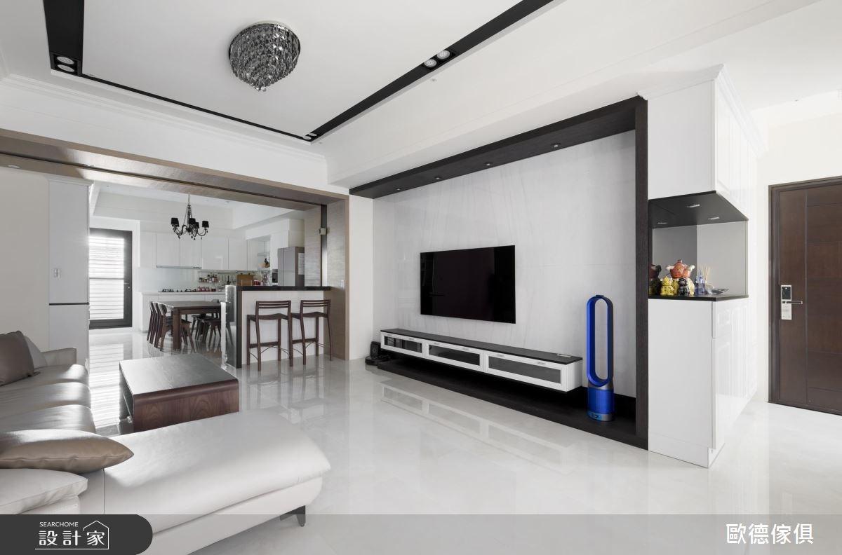 40坪新成屋(5年以下)_混搭風客廳案例圖片_台灣歐德傢俱股份有限公司_歐德_49之4