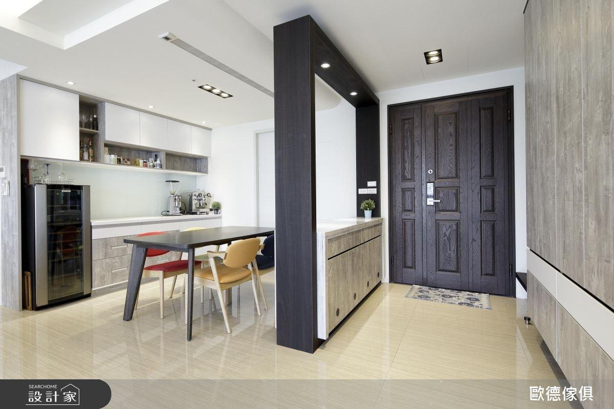 50坪新成屋(5年以下)_現代風玄關餐廳案例圖片_台灣歐德傢俱股份有限公司_歐德_52之2