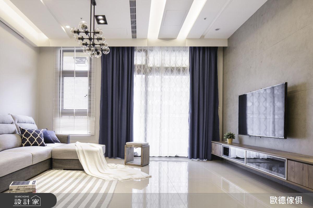 40坪新成屋(5年以下)_現代風客廳案例圖片_台灣歐德傢俱股份有限公司_歐德_58之2