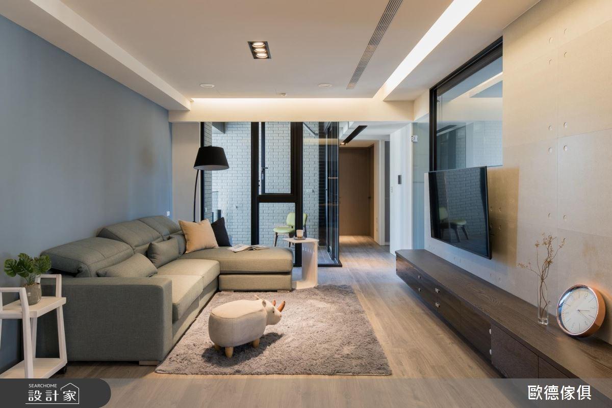 27坪預售屋_現代風客廳走廊案例圖片_台灣歐德傢俱股份有限公司_歐德_61之9