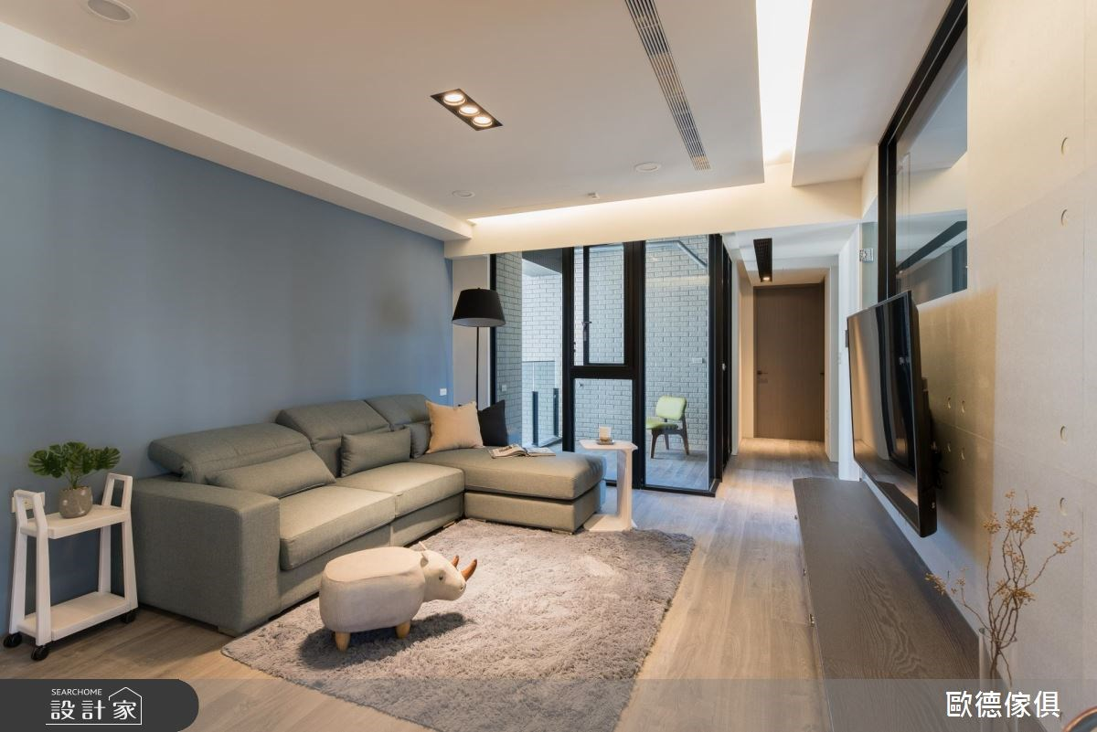 27坪預售屋_現代風客廳走廊案例圖片_台灣歐德傢俱股份有限公司_歐德_61之10