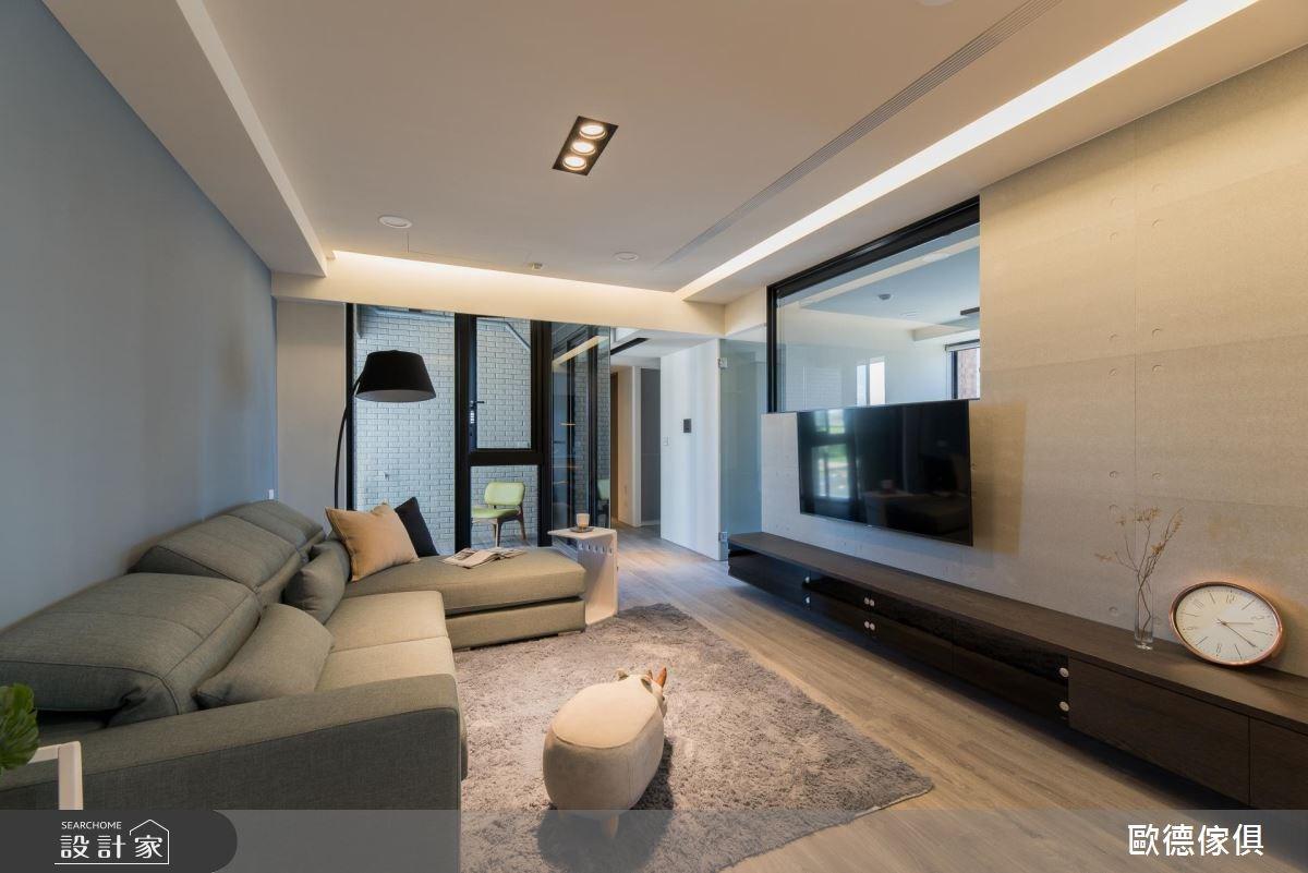 27坪預售屋_現代風客廳案例圖片_台灣歐德傢俱股份有限公司_歐德_61之11