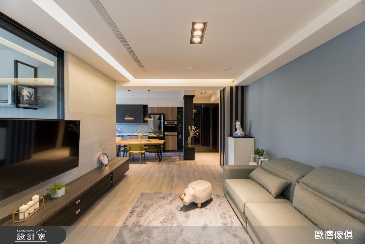 27坪預售屋_現代風客廳案例圖片_台灣歐德傢俱股份有限公司_歐德_61之12