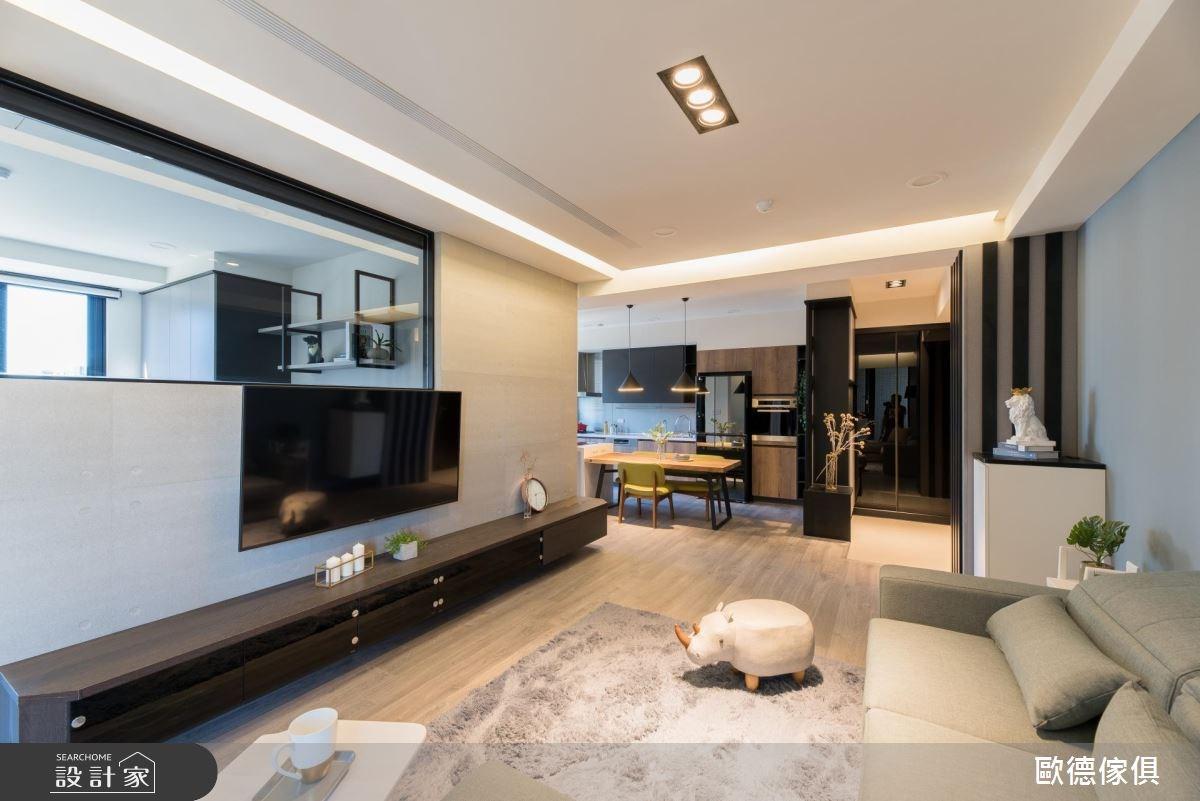 27坪預售屋_現代風客廳案例圖片_台灣歐德傢俱股份有限公司_歐德_61之13