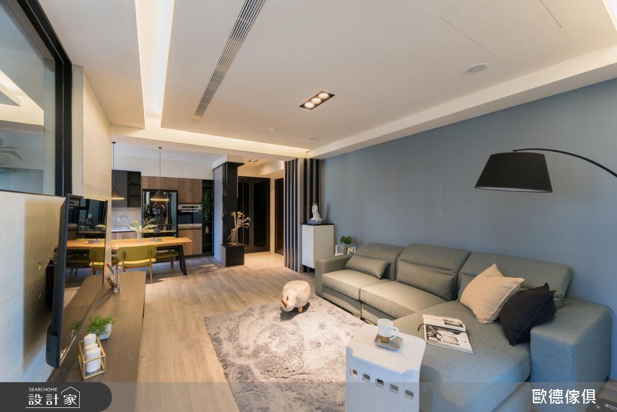 27坪預售屋_現代風客廳案例圖片_台灣歐德傢俱股份有限公司_歐德_61之14