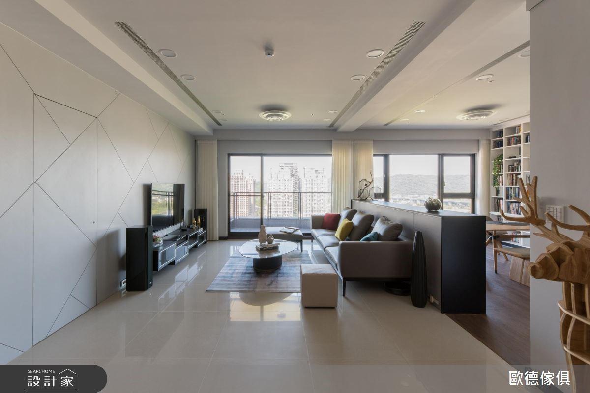 50坪預售屋_簡約風客廳案例圖片_台灣歐德傢俱股份有限公司_歐德_64之2
