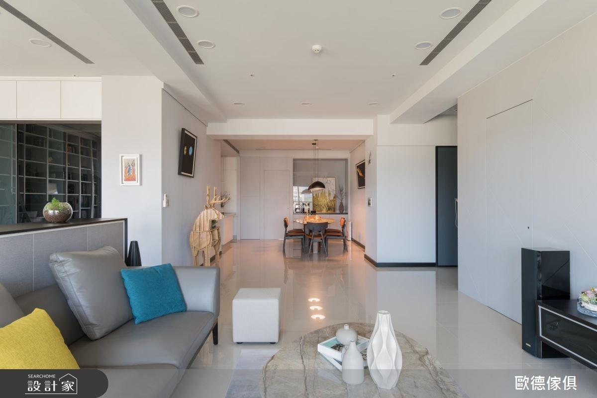 50坪預售屋_簡約風客廳案例圖片_台灣歐德傢俱股份有限公司_歐德_64之5