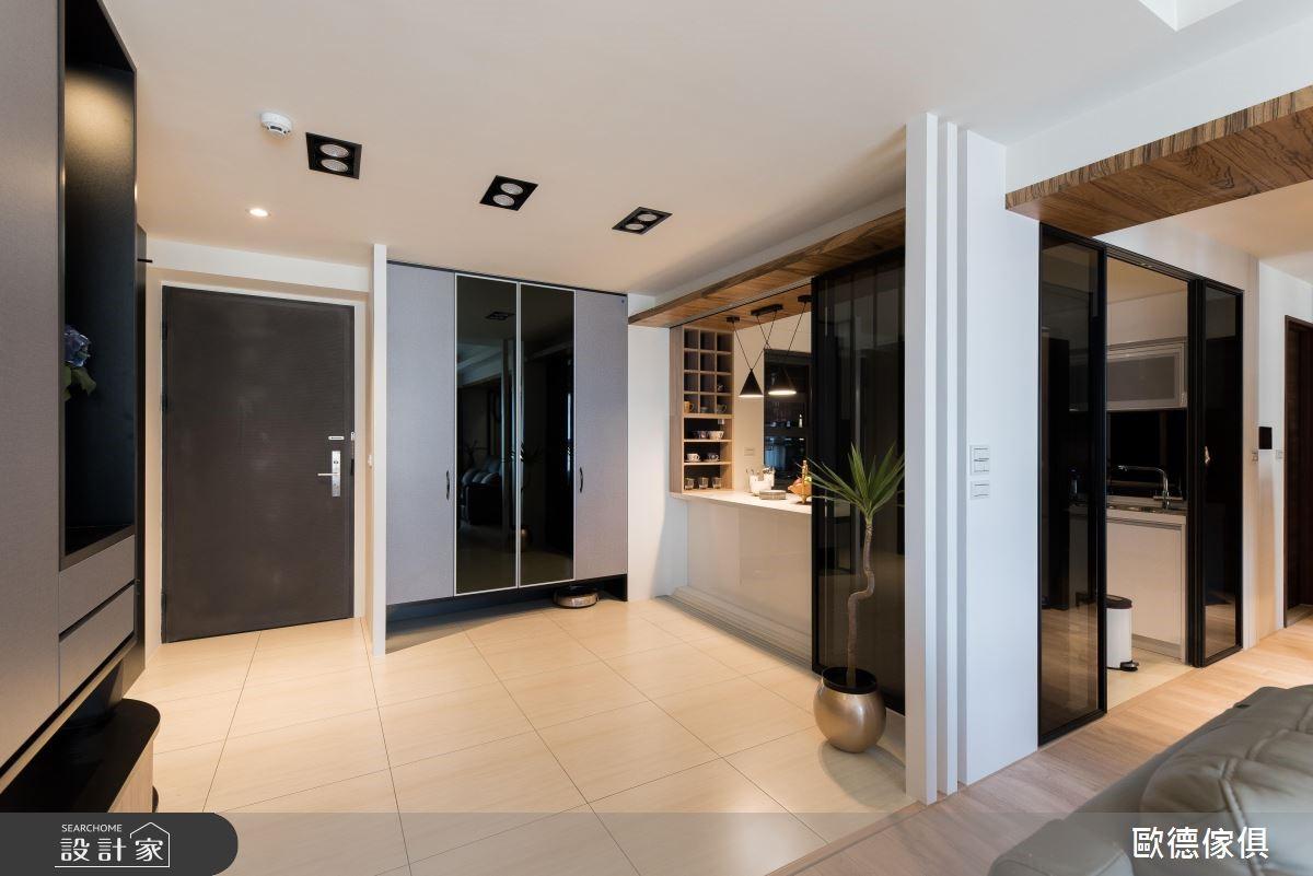 30坪新成屋(5年以下)_現代風玄關廚房吧檯案例圖片_台灣歐德傢俱股份有限公司_歐德_70之2
