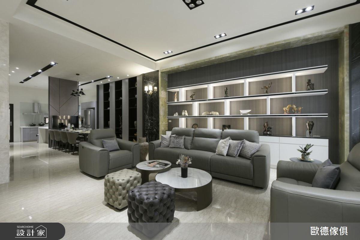 100坪新成屋(5年以下)_現代風客廳案例圖片_台灣歐德傢俱股份有限公司_歐德_74之4