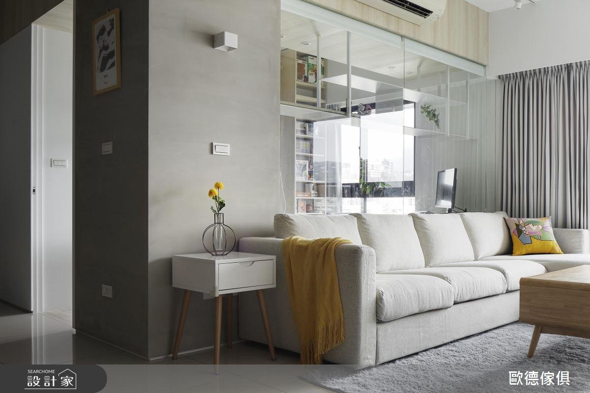 32坪新成屋(5年以下)_北歐風客廳案例圖片_台灣歐德傢俱股份有限公司_歐德_77之3