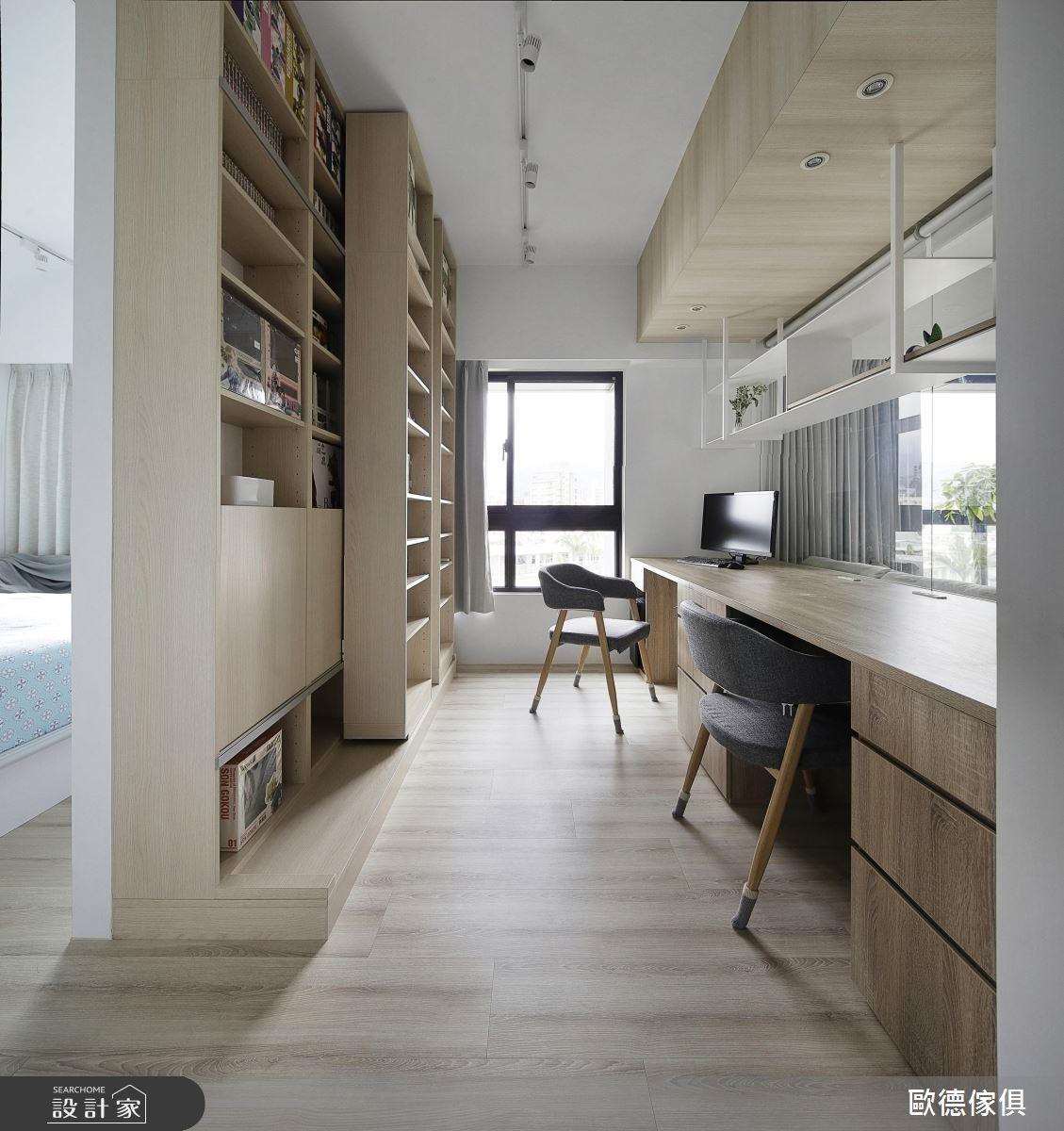 32坪新成屋(5年以下)_北歐風書房案例圖片_台灣歐德傢俱股份有限公司_歐德_77之8