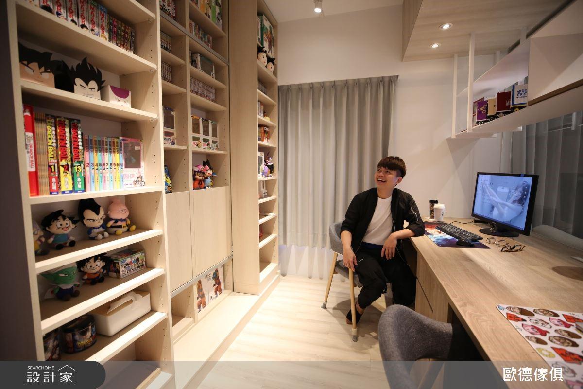 32坪新成屋(5年以下)_北歐風書房案例圖片_台灣歐德傢俱股份有限公司_歐德_77之11