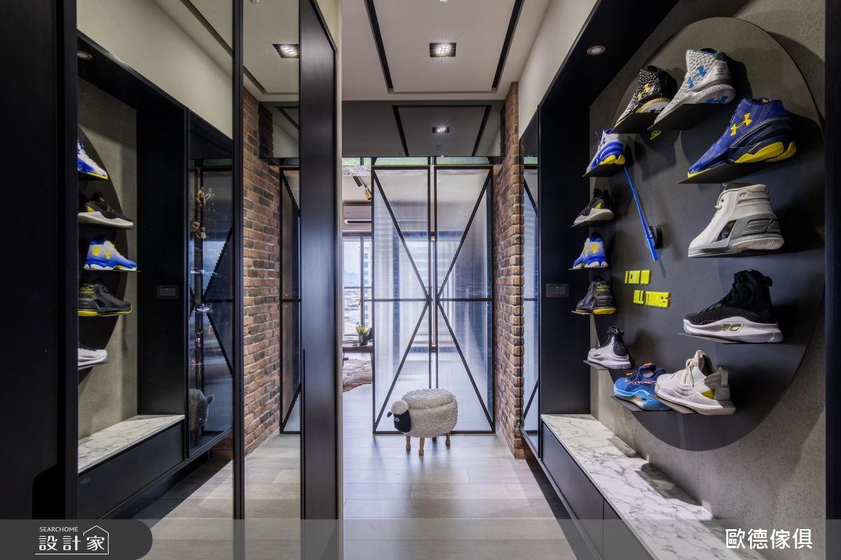 39坪新成屋(5年以下)_工業風玄關案例圖片_台灣歐德傢俱股份有限公司_歐德_78之3