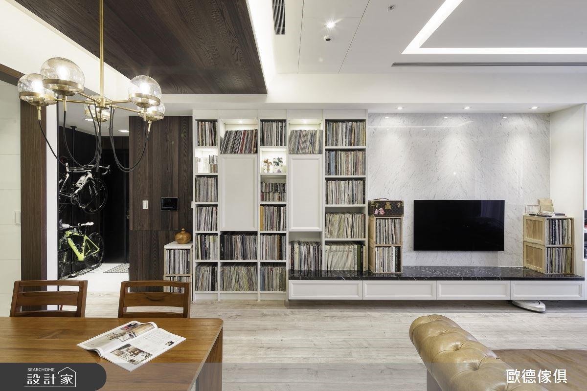 34坪新成屋(5年以下)_新古典客廳案例圖片_台灣歐德傢俱股份有限公司_歐德_81之2