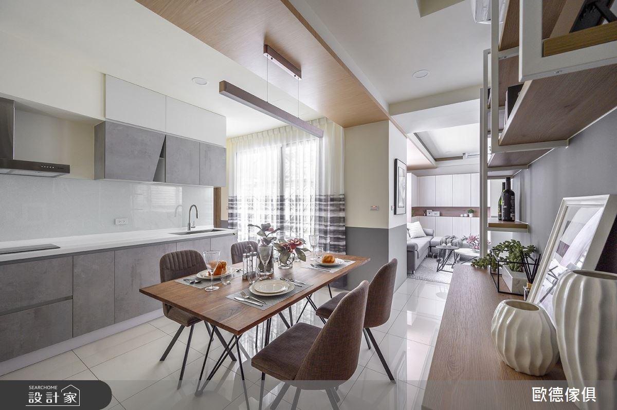 28坪新成屋(5年以下)_簡約風餐廳案例圖片_台灣歐德傢俱股份有限公司_歐德_84之6