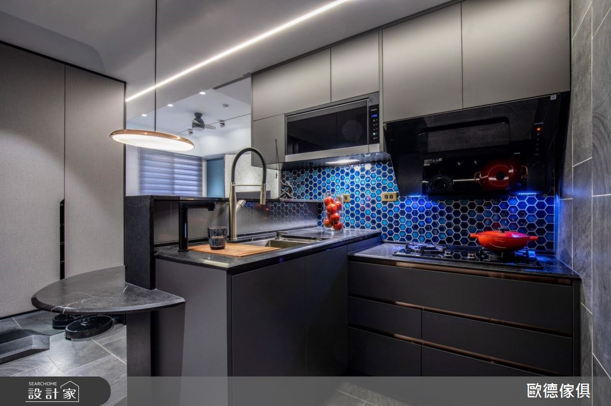 20坪新成屋(5年以下)_現代風廚房案例圖片_台灣歐德傢俱股份有限公司_歐德_104之14