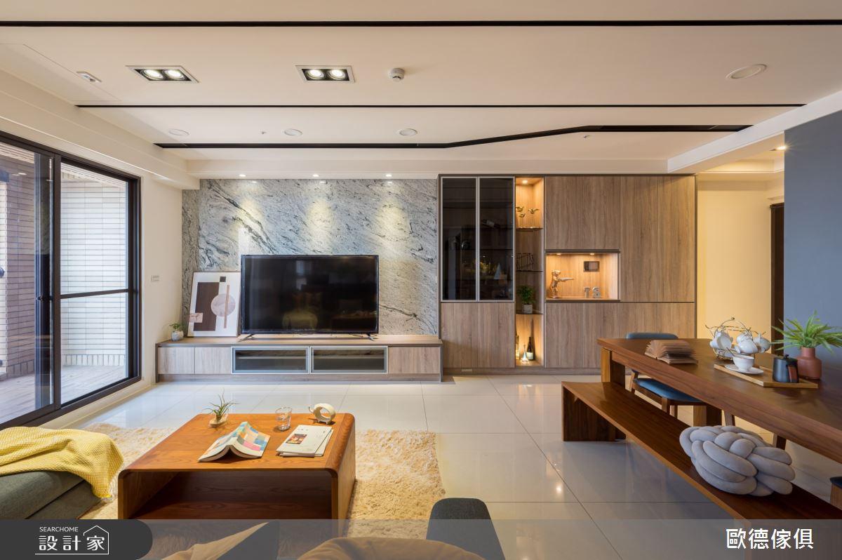 60坪新成屋(5年以下)_現代風客廳案例圖片_台灣歐德傢俱股份有限公司_歐德_106之4