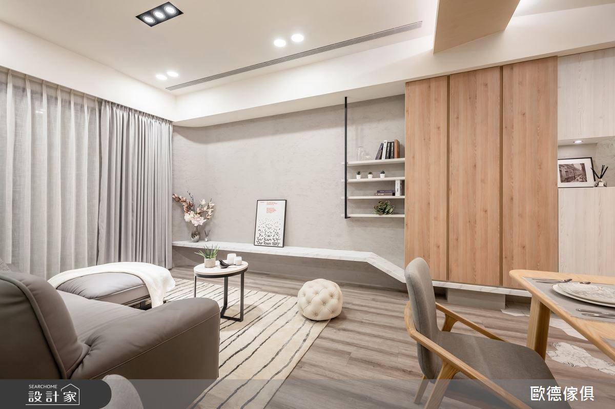 25坪新成屋(5年以下)_混搭風客廳案例圖片_台灣歐德傢俱股份有限公司_歐德_107之3