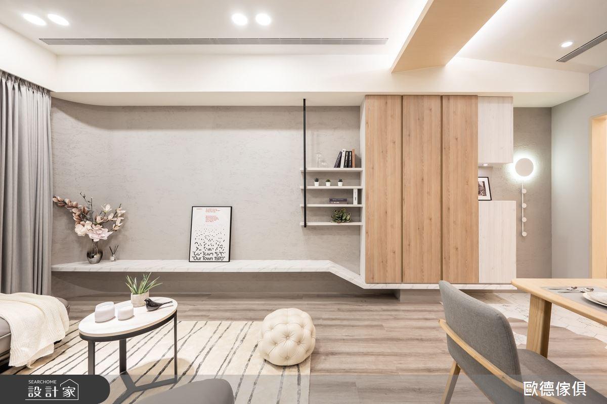 25坪新成屋(5年以下)_混搭風客廳案例圖片_台灣歐德傢俱股份有限公司_歐德_107之4