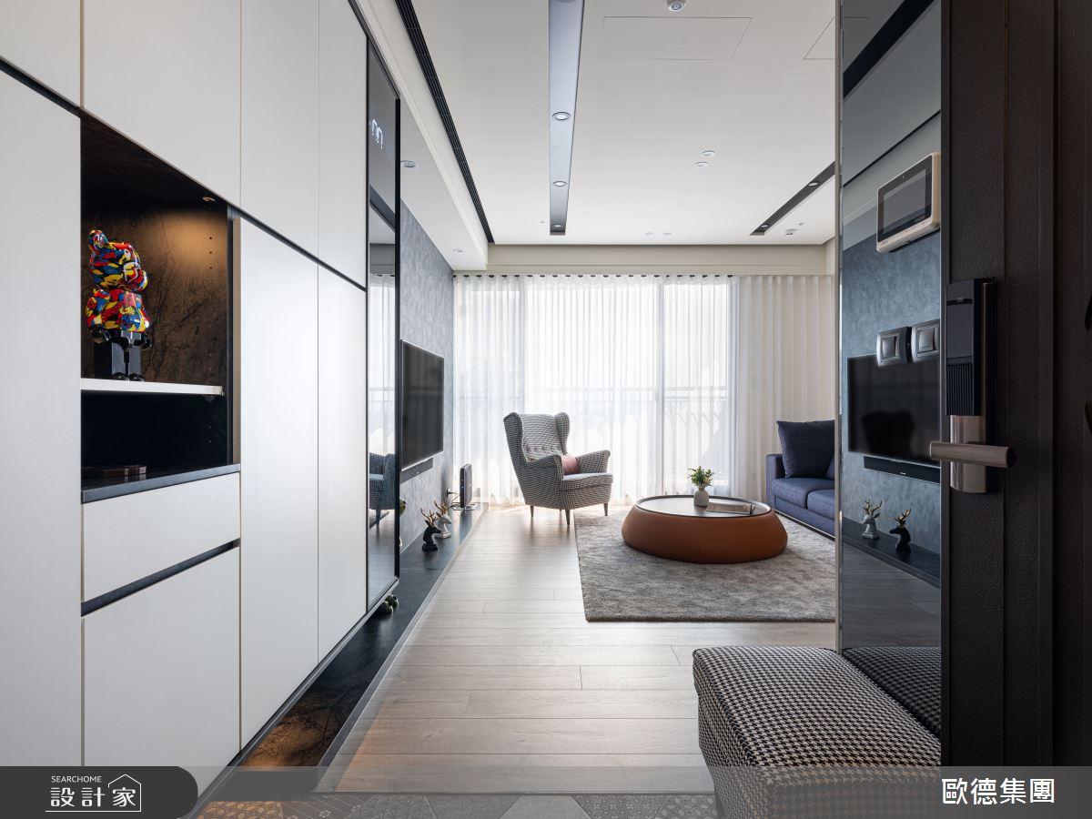 40坪新成屋(5年以下)_混搭風玄關客廳案例圖片_台灣歐德傢俱股份有限公司_歐德_117之3