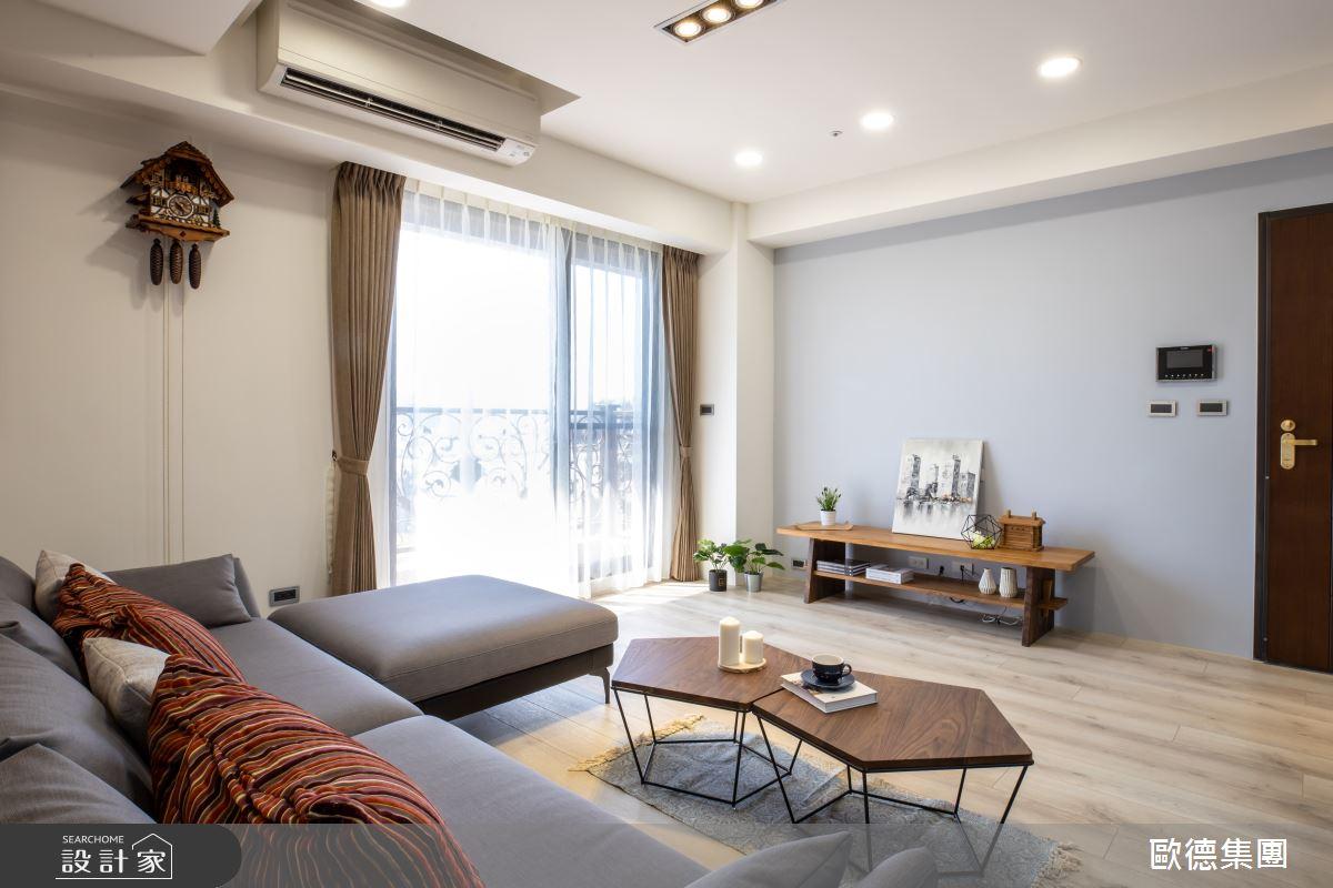 40坪新成屋(5年以下)_混搭風客廳案例圖片_台灣歐德傢俱股份有限公司_歐德_119之1
