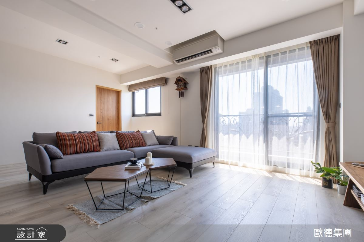 40坪新成屋(5年以下)_混搭風客廳案例圖片_台灣歐德傢俱股份有限公司_歐德_119之3