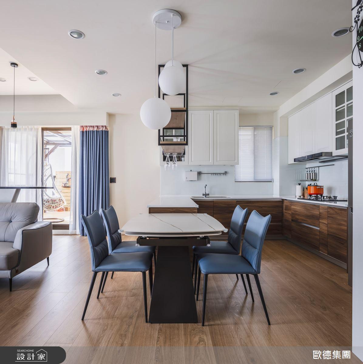 40坪新成屋(5年以下)_混搭風餐廳案例圖片_台灣歐德傢俱股份有限公司_歐德_129之10