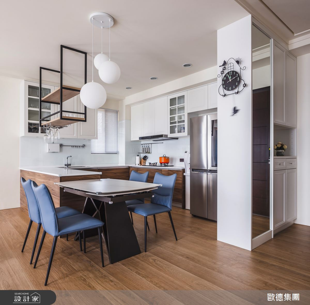 40坪新成屋(5年以下)_混搭風餐廳中島案例圖片_台灣歐德傢俱股份有限公司_歐德_129之9