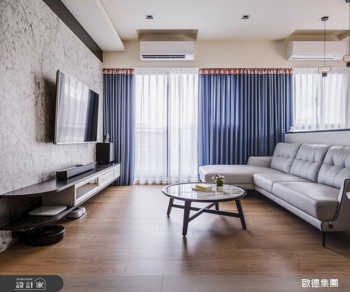 40坪新成屋(5年以下)_混搭風客廳案例圖片_台灣歐德傢俱股份有限公司_歐德_129之4