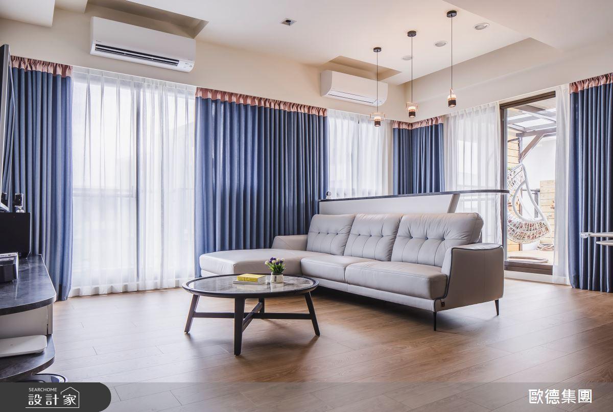 40坪新成屋(5年以下)_混搭風客廳案例圖片_台灣歐德傢俱股份有限公司_歐德_129之5