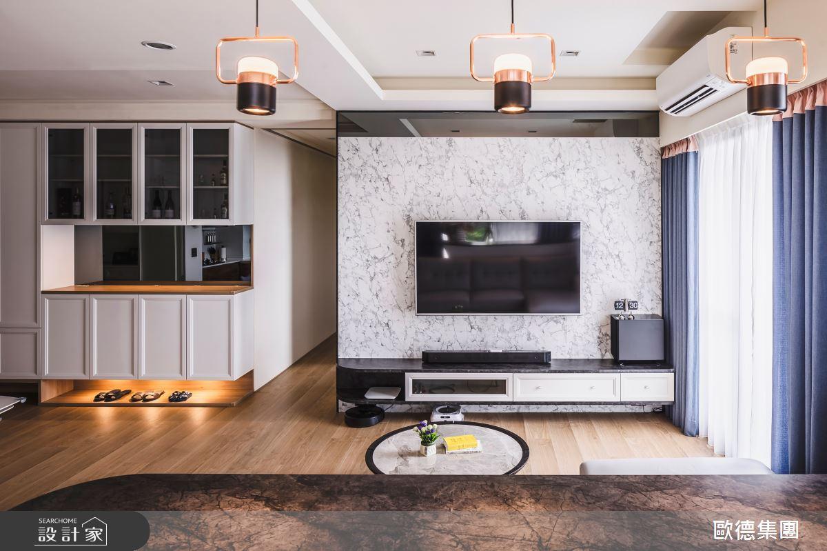 40坪新成屋(5年以下)_混搭風客廳案例圖片_台灣歐德傢俱股份有限公司_歐德_129之3