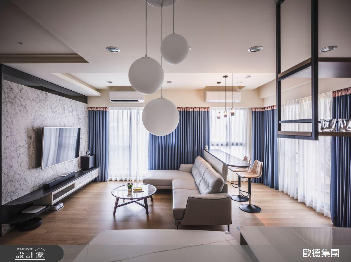 40坪新成屋(5年以下)_混搭風客廳案例圖片_台灣歐德傢俱股份有限公司_歐德_129之7
