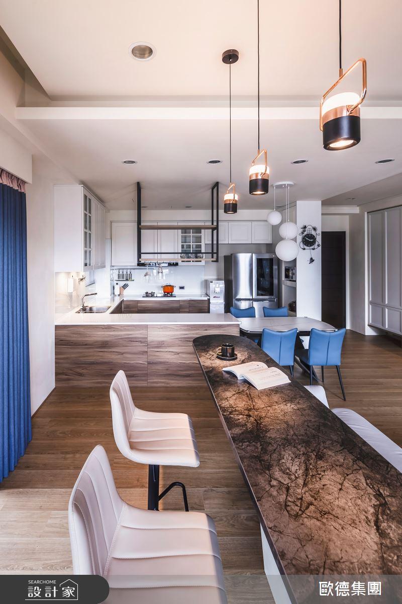 40坪新成屋(5年以下)_混搭風客廳吧檯案例圖片_台灣歐德傢俱股份有限公司_歐德_129之17