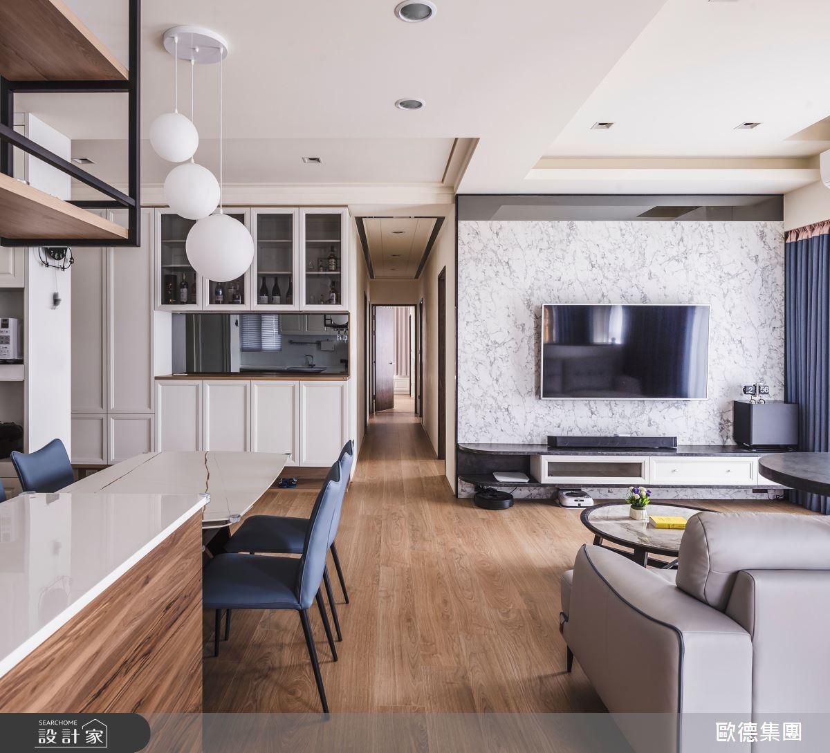 40坪新成屋(5年以下)_混搭風餐廳案例圖片_台灣歐德傢俱股份有限公司_歐德_129之14