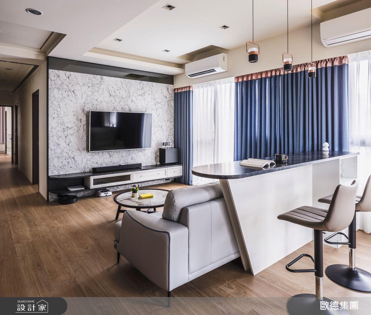 40坪新成屋(5年以下)_混搭風客廳案例圖片_台灣歐德傢俱股份有限公司_歐德_129之15