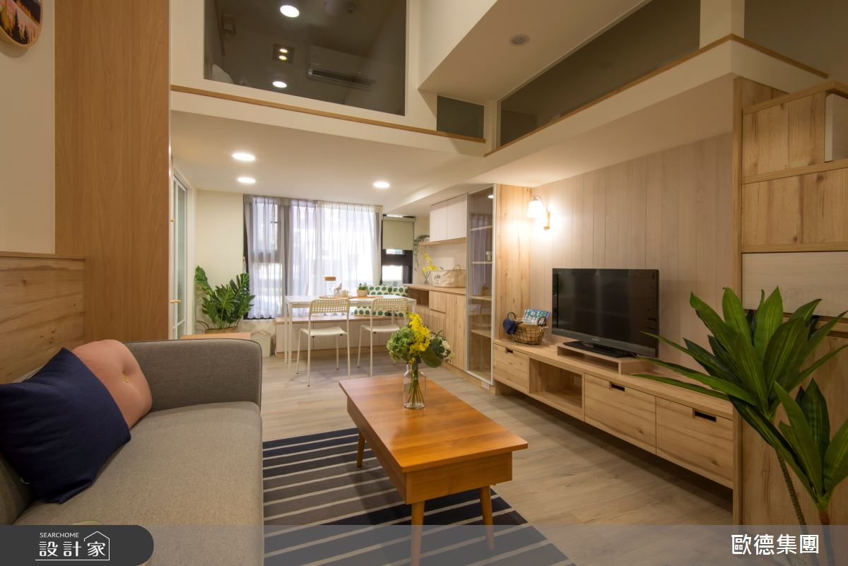 18坪新成屋(5年以下)_休閒風案例圖片_台灣歐德傢俱股份有限公司_歐德_137之2