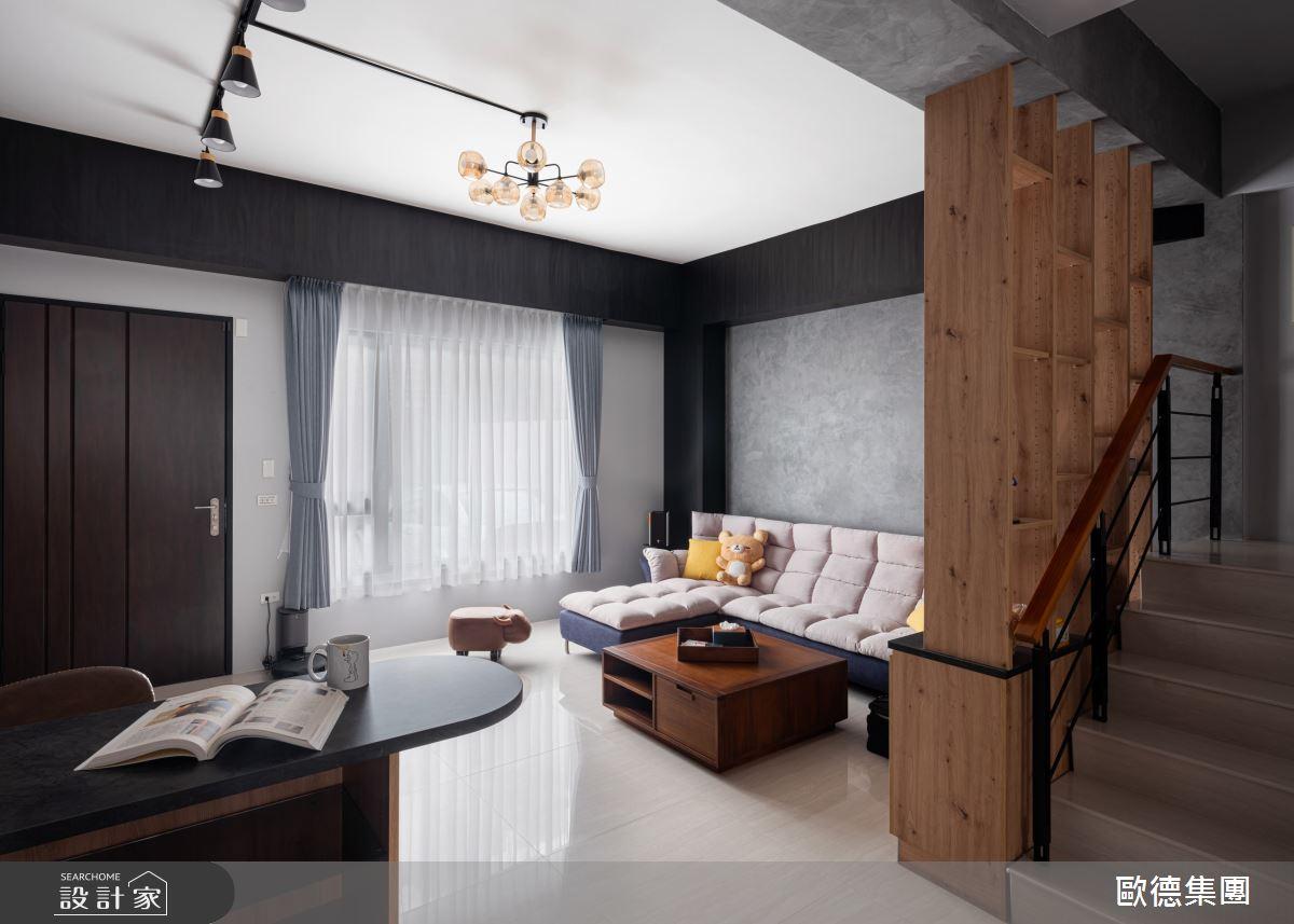 45坪新成屋(5年以下)_工業風客廳吧檯樓梯案例圖片_台灣歐德傢俱股份有限公司_歐德_138之7