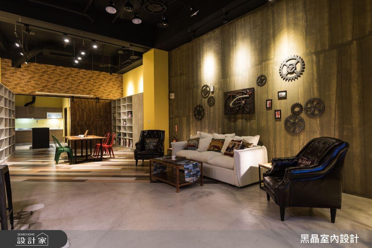 35坪新成屋(5年以下)_工業風案例圖片_黑晶室內設計_黑晶_03之3