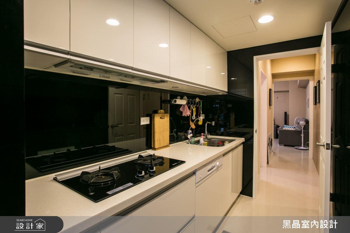25坪老屋(16~30年)_北歐風廚房案例圖片_黑晶室內設計_黑晶_05之4
