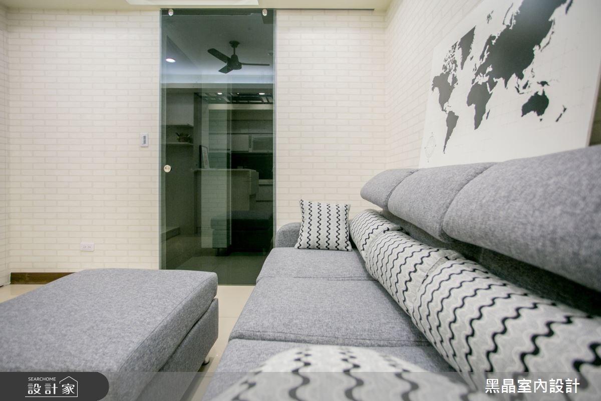 12坪新成屋(5年以下)_混搭風客廳案例圖片_黑晶室內設計_黑晶_12之3