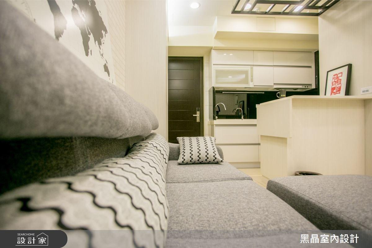 12坪新成屋(5年以下)_混搭風客廳案例圖片_黑晶室內設計_黑晶_12之2