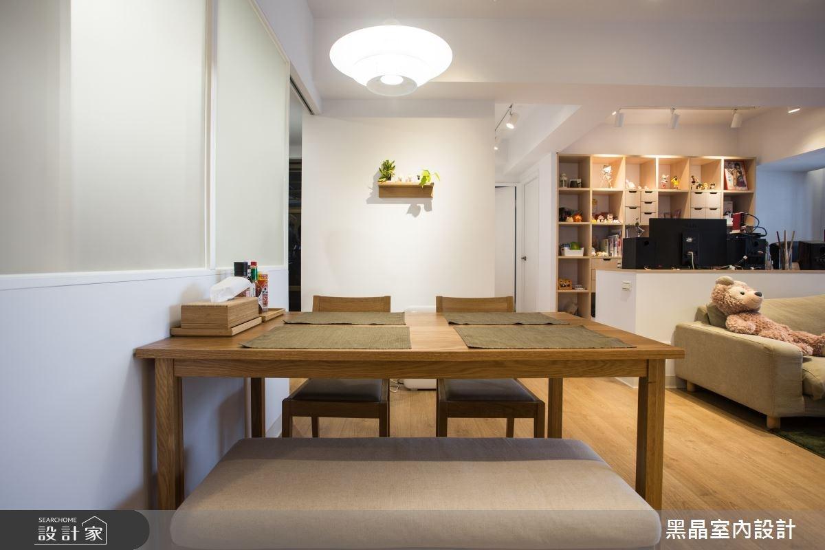 25坪新成屋(5年以下)_混搭風餐廳案例圖片_黑晶室內設計_黑晶_14之9