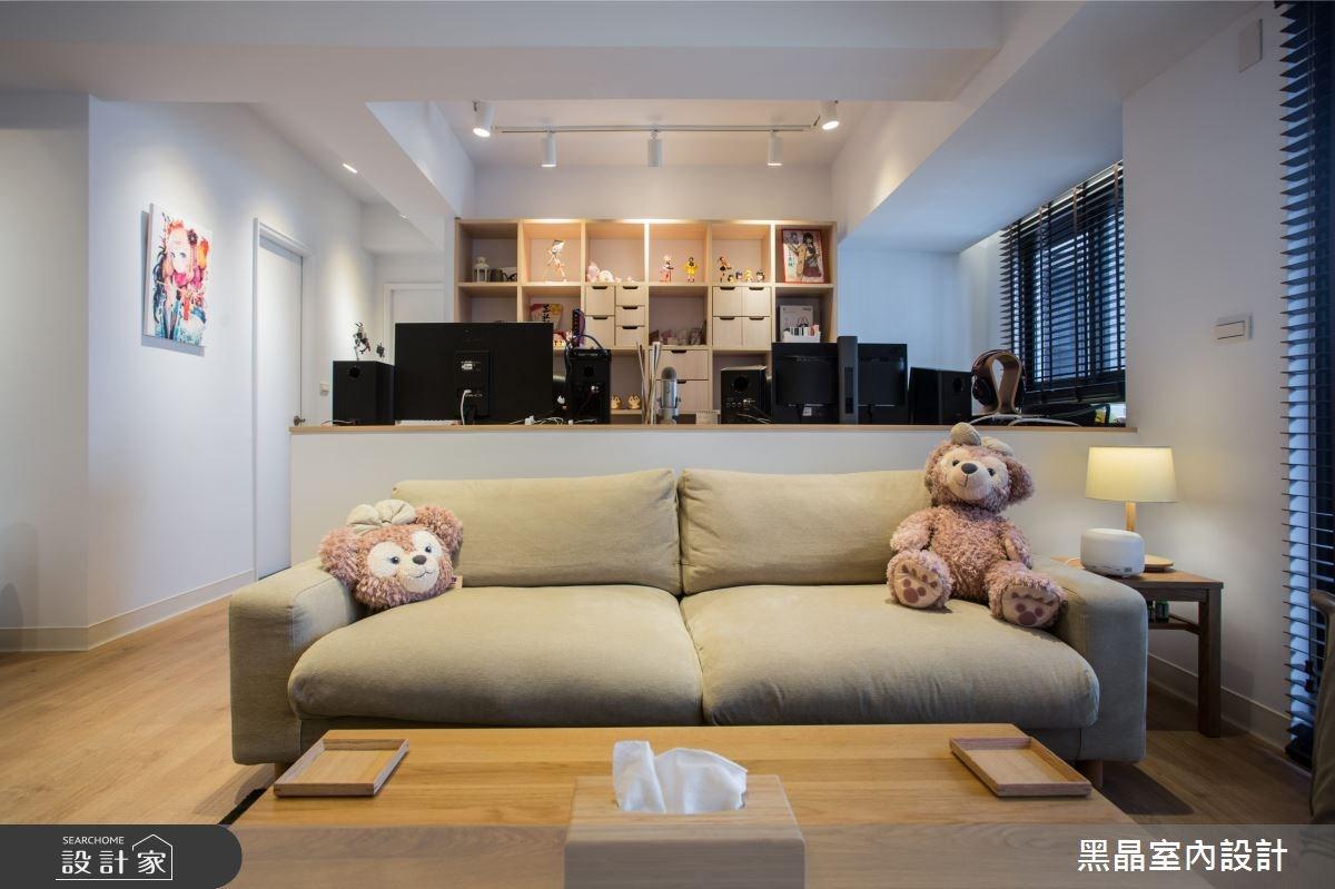 25坪新成屋(5年以下)_混搭風客廳案例圖片_黑晶室內設計_黑晶_14之5